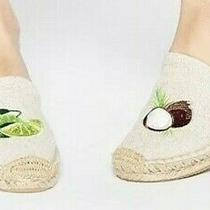 Soludos Lime & Coconut Smoking Slipper Espadrilles Women's 9 Natural Sand Color  Photo
