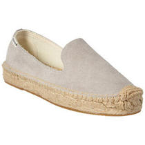 Soludos Suede Smoking Slipper Grey Women's Photo
