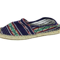 Soludos Womens Red Ikat Cotton Canvas Espadrille Flat Shoes 36 42 New Photo