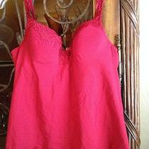 Soma Intimates Red Addison Camisole Bustier Top Lingerie Lace 36 B Photo