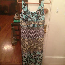 Soma Sundress Cool Blues Print Xl Photo