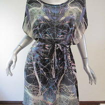 Something Else by Natalie Wood Mirrored Print Oversized Dress Os Photo