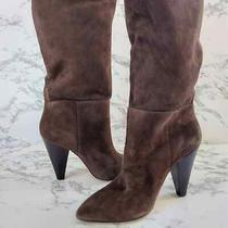 Something Navy Womens Parker Chocolate Suede Boots 7 Photo