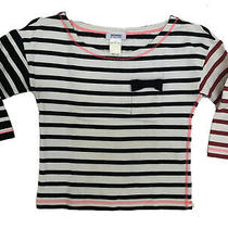Sonia by Sonia Rykiel Striped Cotton Top Size S Photo