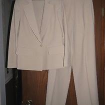Sonia Rykiel 1890 Beige Smooth Stretch Wool Single Button Blazer Pants Suit 38 Photo