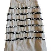 Sonia Rykiel Anniversary Collection Blush Jeweled Pearl Silk Blouse Top   36 Photo
