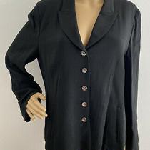 Sonia Rykiel Black Jacket Blazer With Silver Buttons Size Large Photo