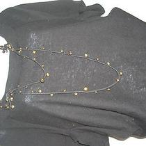 Sonia Rykiel Black Sweater With Attached Necklace - S Photo