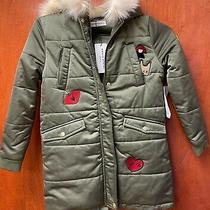 Sonia Rykiel Designer Kids Khaki Hooded Patches Parka Coat Jacket Photo