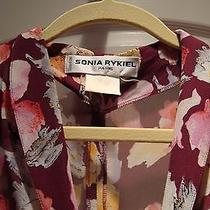Sonia Rykiel Floral Vintage Dress Size 8 to 10 Made in France Photo