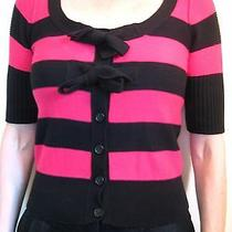 Sonia Rykiel for h&m Size Xs or 6 Pink Black Stripe Pullover Sweater Cardigan  Photo