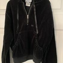 Sonia Rykiel Girls Black Velour Hooded Sweater Jacket Half Zip Skirt Set Size 8 Photo