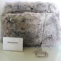 Sonia Rykiel Gray Rabbit Fur Clutch W Authentication Card Photo