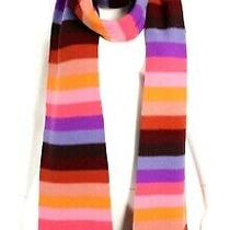 Sonia Rykiel Multi-Color Striped Wool Knit Rectangular Stole Scarf Photo