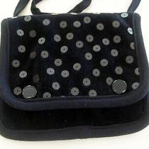 Sonia Rykiel Paris Black Velvet Mini Shoulder Purse Sequin Embellished Photo