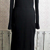 Sonia Rykiel Paris Dress Black Size Medium Long Sleeve Knit High End Vintage Photo