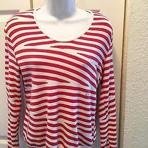 Sonia Rykiel Red White Striped Sweater Top Photo