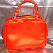 Sonia Rykiel Small Tote Purse Clutch Make Up Bag Orange Paris  Nwot Rare Htf  Photo