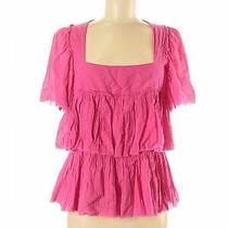 Sonia Rykiel Women Pink Short Sleeve Blouse 40 Eur Photo