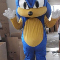 Sonic Hedgehog Mascot Costume Fancy Dress Costume Photo