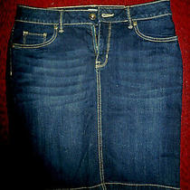 Sonoma Goods for Life Stretch Denim Dark Wash Jean Pencil Skirt Size8 Euc Photo