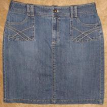 Sonoma Life  Style Womens Blue Jean Denim Skirt Sz 12 4562 Photo