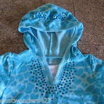 Sonoma Turquoise Leopard Sequin Girls Top Sz 6 Super Cute Photo