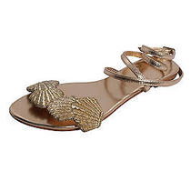 Sophia 203 Womens Gold Siren Seashell Ankle Strap Sandals 245 New Photo