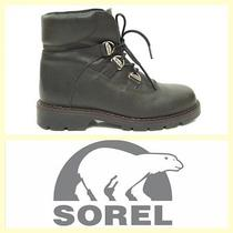 Sorel 150 Black Leather Women's Insulated Lace-Up Hiking Boots10 Photo