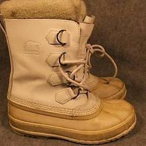 Sorel 1964-Pac White Leather Insulated Boots Size 7 / 38 Photo