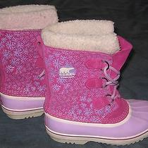 Sorel 1964 Pac Youth Graphic Raspberry/light Purplewhite Winter Boots Size 5 Photo