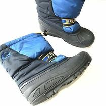Sorel 60 Kids Boys 3 Blue Cub Ii Water Resistance Insulated Snow Winter Boots Photo