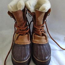 Sorel Alpine Womens Snow Winter Boots Size 7 Leather Insulated Brown Tan Boots Photo