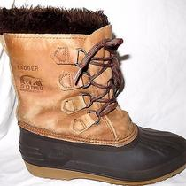 Sorel Badger Womens Size 9 Waterproof Insulated Leather Snow Winter Boots Photo