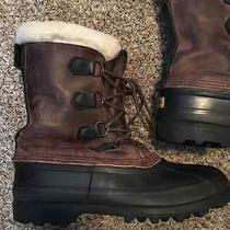 Sorel Bighorn Mens 8 Waterproof Rubber Leather Insulated Winter Snow Boots Photo