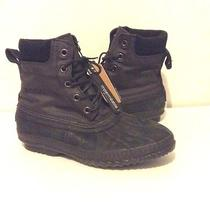 Sorel Black Cheyenne Lace Working Boots Sz 11 Photo