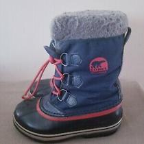 Sorel Blue Waterproof & Insulated Winter Boots Duck Boots Sz 4 Photo