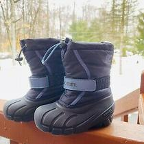 Sorel Boy's Childrens/toddler Winter Boots Size 11 Black/blue Insulated Photo