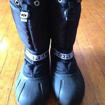 Sorel Boys Black Snow Boots Sz 4 Photo