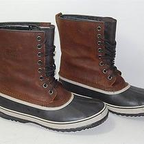 Sorel Brown Leather Men's Waterproof Insulated Snow Winter Boots Sz Us 13 Eur 46 Photo