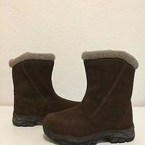 Sorel Brown Suede Leather Zipper Boots Waterproof Thinsulate Insulation 7 Photo