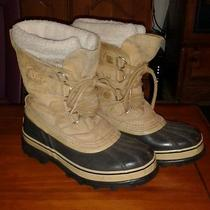 Sorel Caribou Boots Snow Leather Insulated Waterproof Women Size 8 Photo