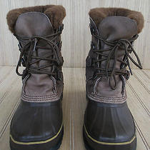 Sorel Caribou Brown Leather Insulated Winter  Boots Womens Size 7m Photo