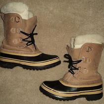 Sorel Caribou Buff Leather Winter Insulated Boots Canadian Made Mens 7 Womens 9 Photo