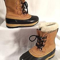 Sorel Caribou Ii Brown/tan Leather Insulated Winter Snow Boots Men's Size 8 Photo