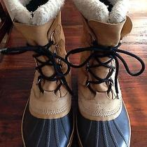 Sorel Caribou Ii Mens 8 Waterproof Rubber Leather Insulated Winter Snow Boots Photo