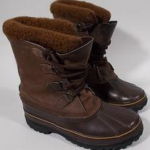 Sorel Caribou Mens Boots Size 10 Insulated Leather Rubber Heavy Snow Photo