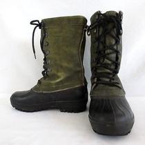 Sorel Caribou Men's Hunting Boots Size 8 Green Leather Black Rubber Insulated Photo