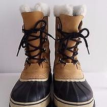 Sorel Caribou Waterproof Winter Boots - Insulated Leather Color Buff Size 9 Photo