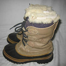 Sorel Caribou Winter Boots / Shoes Sz 8 Us Insulated Leather / Rubber Men's Photo